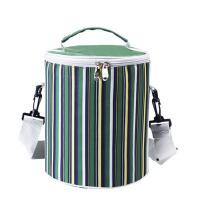 手提圆形饭盒袋便当包 防水保温袋圆桶带饭午餐包 学生大号饭包