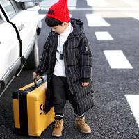 童装男童外套冬装儿童棉衣中长款男孩冬季潮