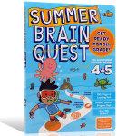 Summer Brain Quest:Between Grades 4&5大脑任务 英文原版 暑期练习册4-5年级 美