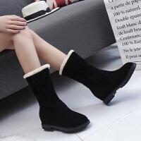 (一鞋两穿)雪地靴女冬季学生短靴加绒加厚中筒靴保暖棉鞋女靴子