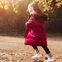 女童羽绒服中长款2017新款冬装保暖中大童儿童童装外套女宝宝加厚