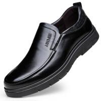 春夏季皮鞋男士休闲皮鞋中老年爸爸商务正装鞋子真皮牛皮上班工作鞋