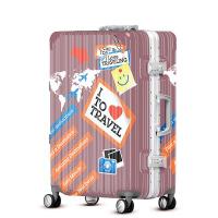 2018新款个性商务印花女士拉杆箱万向轮行李箱旅行箱超轻拖箱