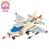 儿童益智拼装积木玩具 F15鹰式战斗机29004