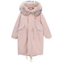 冬季韩版大毛领军工装棉衣女学生中长款过膝加厚棉袄羽绒外套