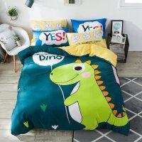 儿童四件套全棉纯棉男孩卡通被套床上用品1.2米床单人三件套女孩4
