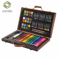 儿童画笔木盒绘画套装学习用品画画工具水彩笔美术文具生日礼物