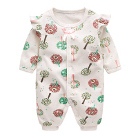 婴儿春装公主哈衣3纯棉外出服6新生儿衣服女12个月宝宝连体衣春秋