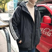 ins棉衣男潮牌2018新款冬季韩版潮流男士加厚学生冬装外套帅 黑色 M