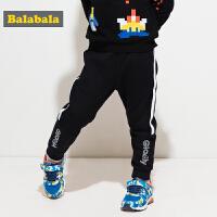 巴拉巴拉童装男童裤子小童宝宝长裤秋装2017新款儿童运动裤休闲裤