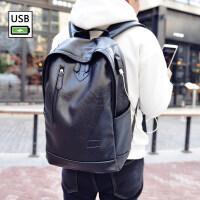 2018新款新款男士小背包韩版女双肩包男包休闲学生书包旅行包pu皮电脑包潮