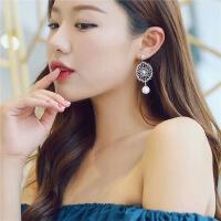 仙女蕾丝花朵珍珠针耳坠无耳洞耳夹耳环夹式耳环耳饰品