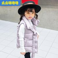 么么哒噜噜 2017冬装新款女童儿童中大童棉衣马甲韩版冬款短款外套