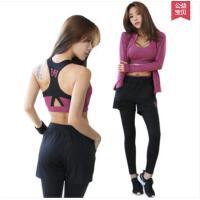 简约舒适显瘦长袖大码跑步衣运动裤健身房瑜伽服运动套装女三件套