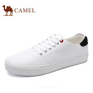 骆驼牌 男鞋 新品时尚休闲板鞋系带小白鞋舒适低帮男鞋