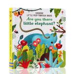 英文原版绘本 Usborne出品 Are you there Little Elephant大象你在哪 洞洞书纸板书