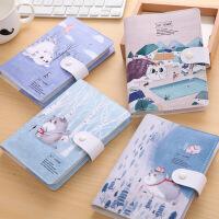创意韩国小清新可爱猫咪记事本 笔记本文具 厚本子彩页手账本皮本