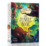 英文原版绘本 Illustrated The Jungle Book 森林之子Usborne出品 插图故事书精装儿童英