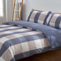 全棉四件套纯棉水洗棉床品被套床单被罩简约双人网红北欧套件