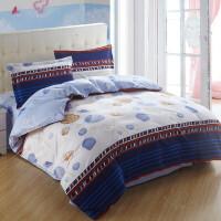 纯棉四件套三件套学生宿舍全棉床品套件1.8m床上用品4件套儿童婚庆被套床单1.5