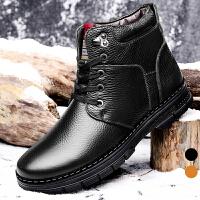 承发 靴子男士雪地靴马丁保暖加绒棉男鞋 8045