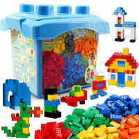邦宝积木益智拼装桶装儿童玩具散件小颗粒积木6-8周岁女孩礼物