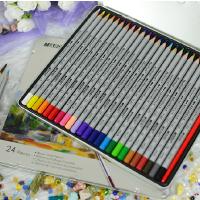马可MARCO 秘密花园专用彩色铅笔专业美术24色水溶彩铅 高级绘画绘图彩色铅笔套装 7120