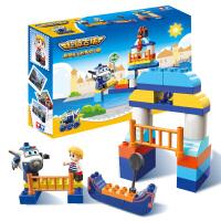 动漫场景贡多拉之旅1.5-5岁儿童拼装益智中颗粒积木玩具