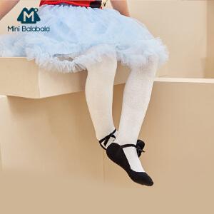 迷你巴拉巴拉童装女幼童儿童连裤袜2017春秋新款舒适袜子宝宝长袜