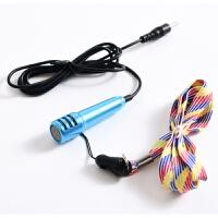 新在线扩音器 教师用扩音器耳麦话筒线小蜜蜂头戴式耳机领夹新在线老师上课专用 蓝色 小话筒长6cm 手持话筒 话筒