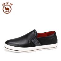 骆驼牌男鞋 夏季新品 日常休闲乐福鞋男皮鞋舒适套脚休闲鞋