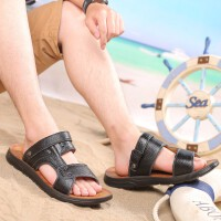 凉鞋男士凉鞋2019新款夏季软底两用凉鞋潮鞋真皮沙滩鞋凉拖鞋