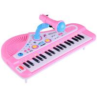 儿童乐器 37键充电带麦克风电子琴 多功能音乐钢琴玩具