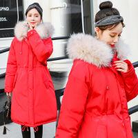 孕妇冬装外套大衣女中长款加厚棉衣服韩版宽松棉袄子冬季羽绒
