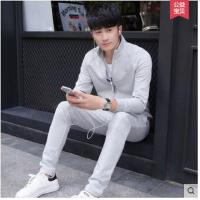 休闲卫衣外套运动服韩版男士运动装两件套新款长袖运动套装 可礼品卡支付