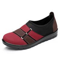 春秋季女鞋老人鞋平底中老年休闲软底奶奶鞋妈妈鞋