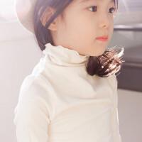 韩版儿童加厚春秋冬女童加绒打底衫中大童高领纯棉亲子款