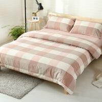 20191106205318110水洗棉四件套风格格子纯棉被套床单床上用品床笠