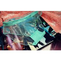 性感蕾丝内裤女情趣诱惑低腰网纱超薄夜店透明低腰黑色三角裤 均码弹力90-120斤