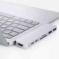 �O果�P�本��XType-c�U展�]MacBookPro Air�D�Q器hub 0.11m