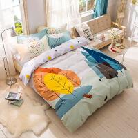 【人气】北欧简约炫酷全棉四件套纯棉床品套件床上用品4件套被套床笠床单