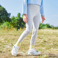 【2件7折到手价:73】小猪班纳童装女童打底裤2021春季新款儿童修身长裤中大童休闲裤