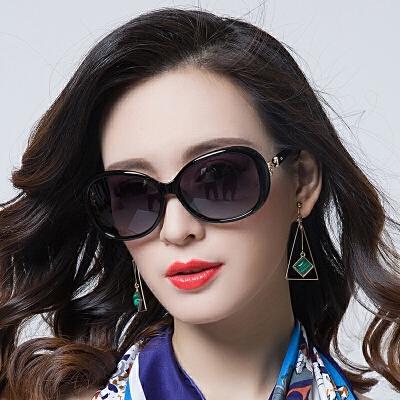 偏光太阳镜圆脸女士墨镜女潮明星款近视眼镜复古大框长脸