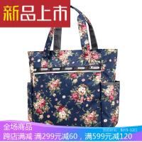 帆布包女士单肩韩版牛津布女包手提大包包大容量妈咪包中年妈妈包印花购物袋