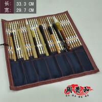 笔联(小) 中国风竹制笔袋 文房四宝 文化用品