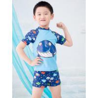 男童泳衣 户外新款韩版分体泳衣男童宝宝婴幼儿中大童小孩平角泳裤游泳套装