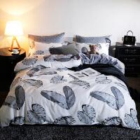 20191108070858782纯棉四件套 被子被套 全棉宿舍床上用品床单三件套床品套件 1.8m(6英尺) 床 适