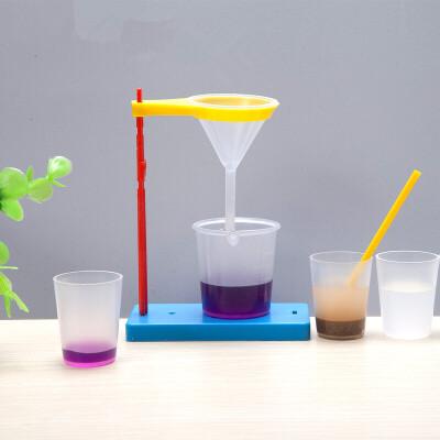 小顽童科技小制作 小学生科学实验玩具小发明材料科普溶解和过滤