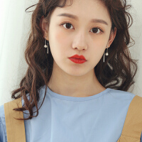 银简约时尚女耳饰个性气质韩国网红耳坠百搭潮人