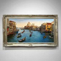 欧式油画手绘风景画客厅壁画沙发挂画威尼斯玄关装饰画美式餐厅画 205*145 手绘油画,10天发货